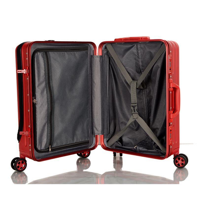 front zipper pocket PC hard luggage 6022