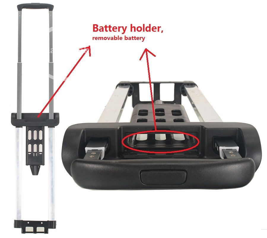 Luggage Trolley Handle With Battery Holder 01