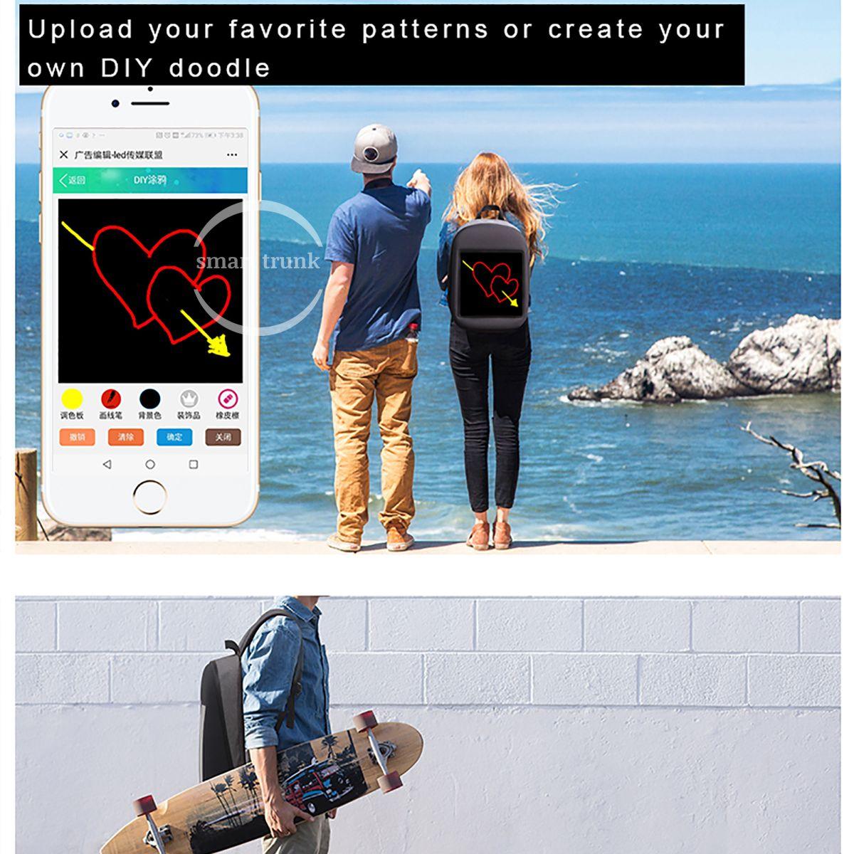 LED Screen Display Backpack