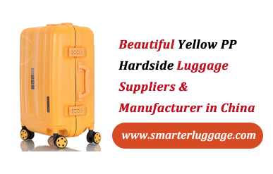 Beautiful Yellow PP Hardside Luggage Suppliers & Manufacturer in China